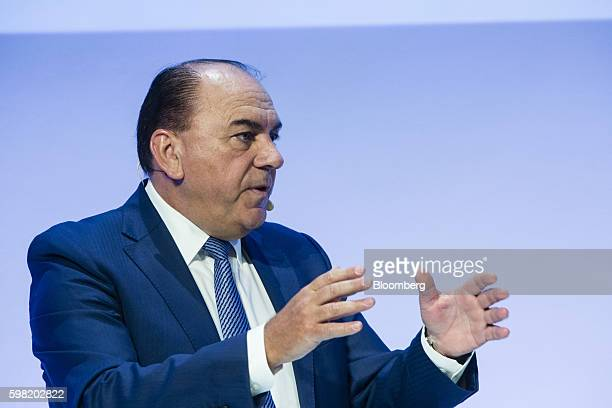 Axel Weber chairman of UBS Group AG speaks during the Banks in Transition conference in Frankfurt Germany on Thursday Sept 1 2016 Deutsche Bank AG...