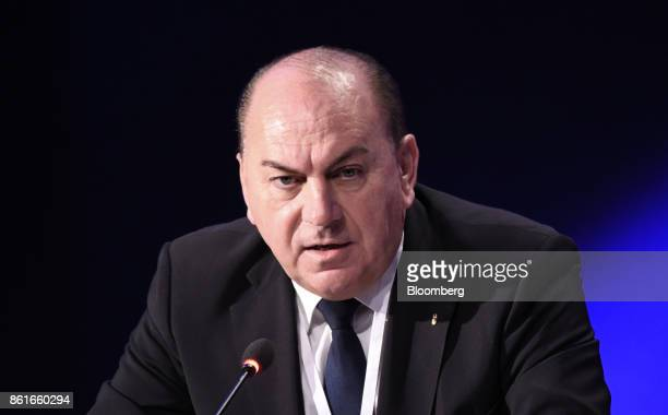 Axel Weber chairman of UBS Group AG speaks during the Group of Thirty International Banking Seminar in Washington DC US on Sunday Oct 15 2017 The...