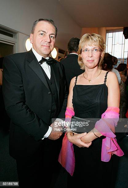 Axel Weber President of the Deutsche Bundesbank and his wife attend the Cologne Opera Aids Gala on June 3 2005 in Cologne Germany