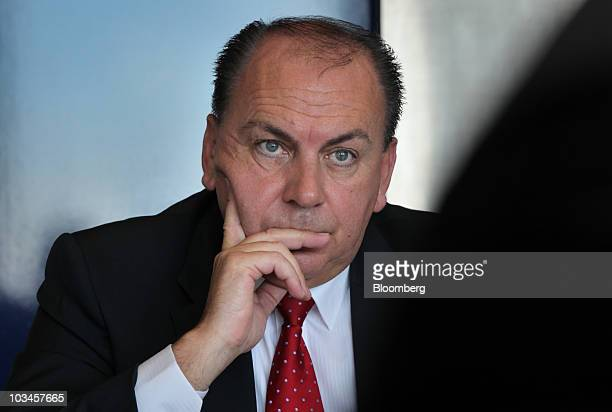 Axel Weber president of the Deutsche Bundesbank listens during an interview in Frankfurt Germany on Thursday Aug 19 2010 The European Central Bank's...