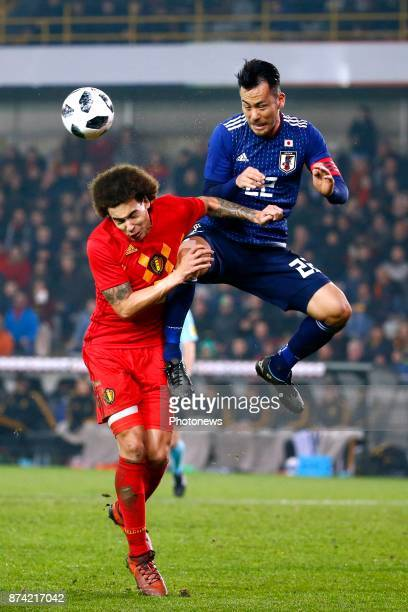 Axel Witsel midfielder of Belgium and Yoshida Maya defender of Japan during the World Cup Friendly Preparation match between Belgium and Japan on...