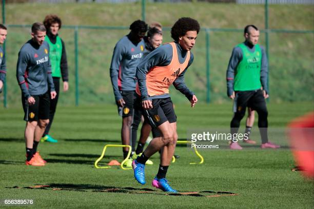 Axel Witsel midfielder of Belgium during a training session prior to the International Qualifying Match group H for the FIFA World Cup 2018 in Russia...