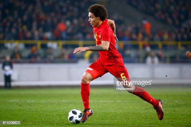 Axel Witsel midfielder of Belgium during the World Cup Friendly Preparation match between Belgium and Japan on November 14 2017 in Brugge Belgium