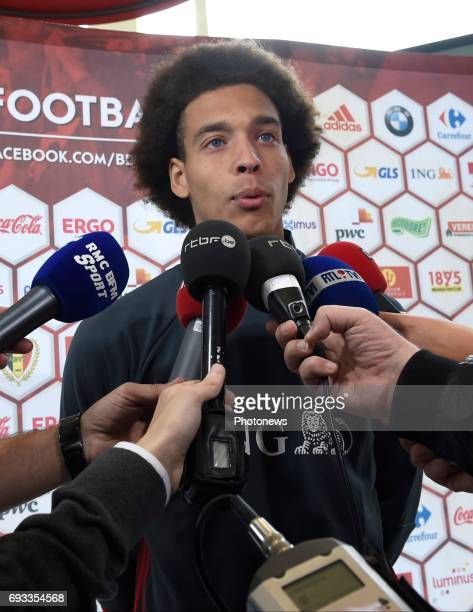 Axel Witsel midfielder of Belgium pictured during a press conference of the Belgian national team prior to the World Cup 2018 qualification match...