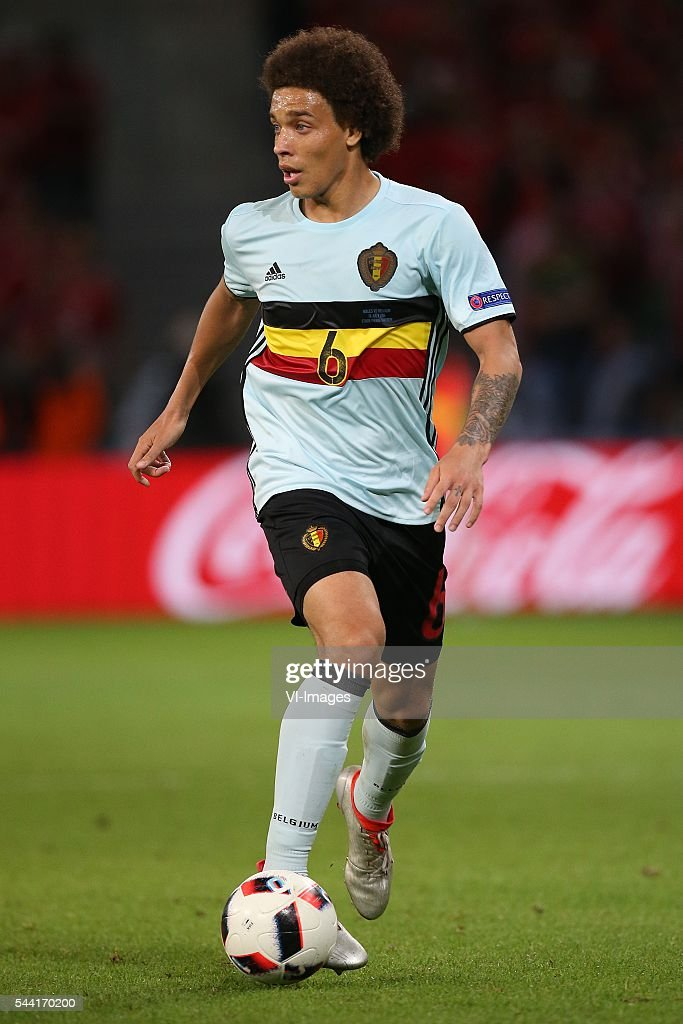 Axel Witsel of Belgium during the UEFA EURO 2016 quarter final match between Wales and Belgium on July 2, 2016 at the Stade Pierre Mauroy in Lille, France.