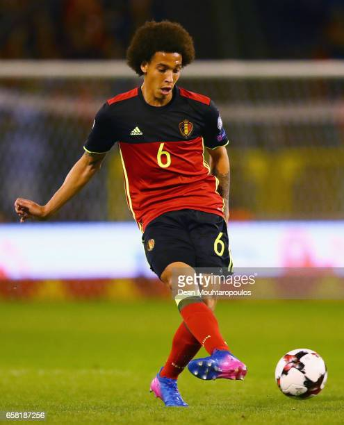 Axel Witsel of Belgium in action during the FIFA 2018 World Cup Group H Qualifier match between Belgium and Greece at Stade Roi Baudouis on March 25...