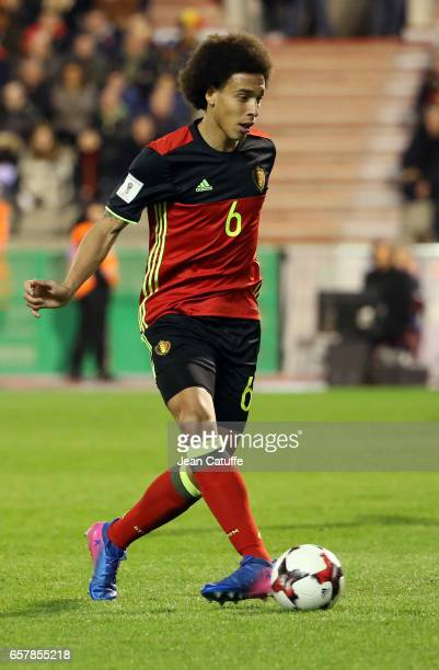 Axel Witsel of Belgium in action during the FIFA 2018 World Cup Qualifier between Belgium and Greece at Stade Roi Baudouin on March 25 2017 in...