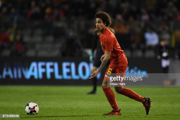 Axel Witsel of Belgium in action during the international friendly match between Belgium and Mexico at King Baudouin Stadium on November 10 2017 in...