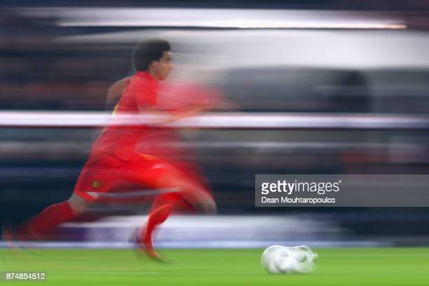 Axel Witsel of Belgium in action during the international friendly match between Belgium and Japan held at Jan Breydel Stadium on November 14 2017 in...