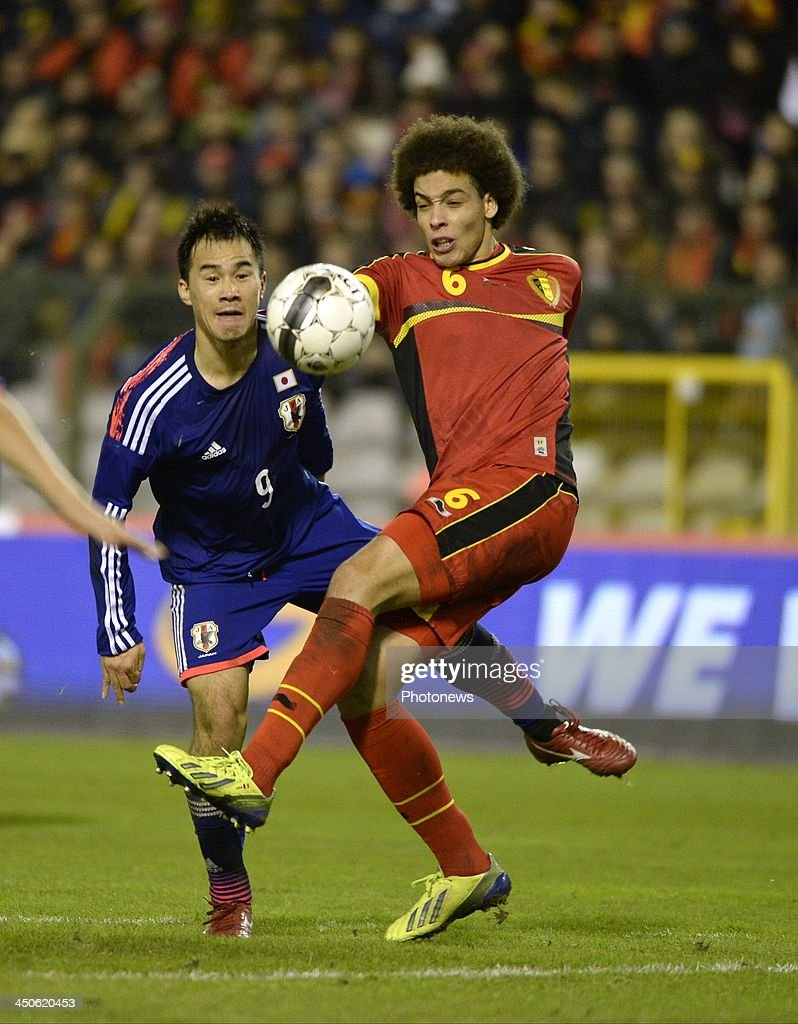 Axel Witsel of Belgium pictured during the international friendly match before the World Cup in Brasil between Belgium and Japan on November 19, 2013 in Brussels, Belgium