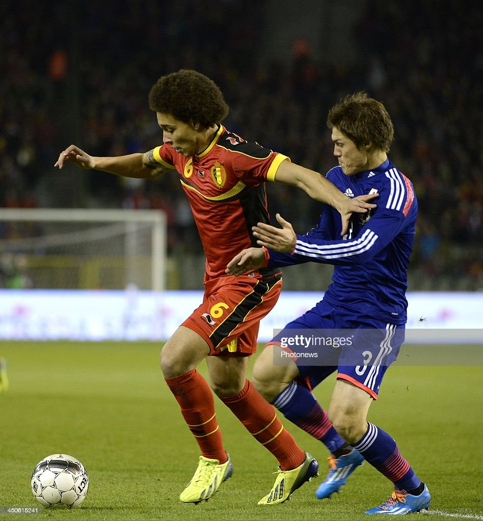 Axel Witsel of Belgium pictured during the pre World Cup international friendly match between Belgium and Japan on November 19, 2013 in Brussels, Belgium