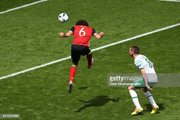Axel Witsel of Belgium scores his team's second goal during the UEFA EURO 2016 Group E match between Belgium and Republic of Ireland at Stade Matmut...