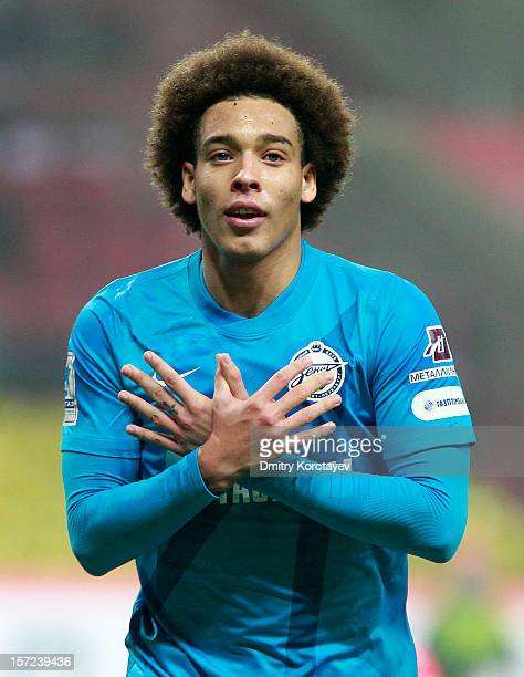 Axel Witsel of FC Zenit St Petersburg celebrates after scoring a goal during the Russian Premier League match between FC Spartak Moscow and FC Zenit...