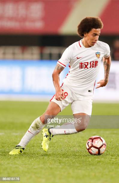 Axel Witsel of Tianjin Quanjian FC in action during the Chinese Super League match between Tianjin Quanjian FC and Hebei China Fortune FC at Haihe...