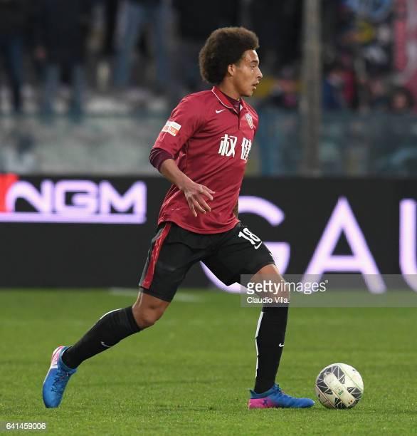 Axel Witsel of Tianjin Quanjian in action during the friendly match between AC Pisa and Tianjin Quanjian at Arena Garibaldi on February 8 2017 in...