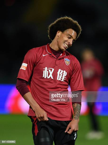 Axel Witsel of Tianjin Quanjian reacts during the friendly match between AC Pisa and Tianjin Quanjian at Arena Garibaldi on February 8 2017 in Pisa...