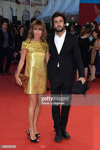 Axelle Laffont and boyfriend attend the 'Get On Up' premiere on September 12 2014 in Deauville France