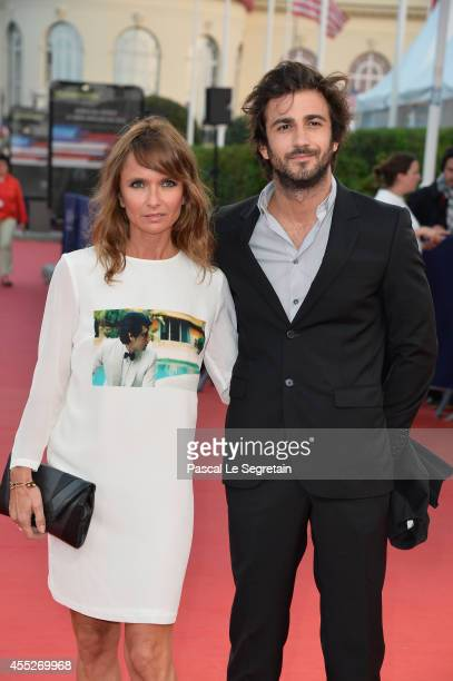 Axelle Laffont and boyfriend attend 'The November man' premiere on September 11 2014 in Deauville France