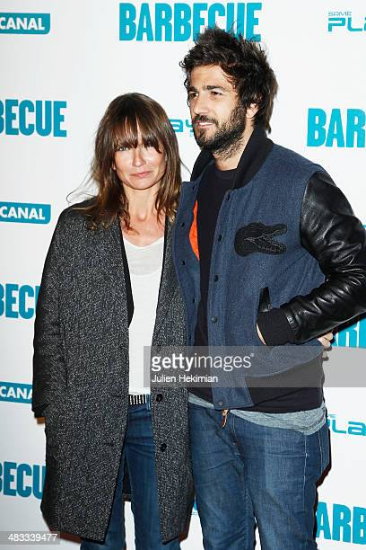 Axelle Laffont and Cyril Paglino attend the 'Barbecue' Premiere at Cinema Gaumont Capucine on April 7 2014 in Paris France