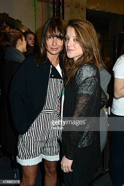 Axelle Laffont and Designer Clelia Tavernier attend the JeanCharles De Castelbajac show as part of the Paris Fashion Week Womenswear Fall/Winter...
