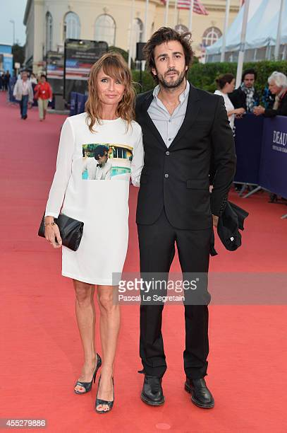 Axelle Laffont and guest attend 'Pasolini' premiere on September 11 2014 in Deauville France