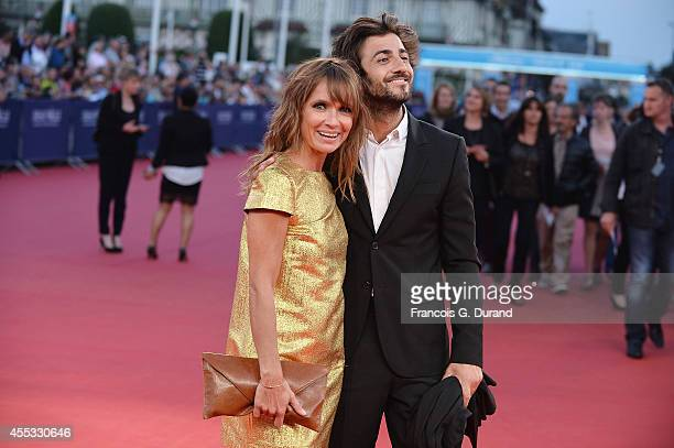 Axelle Laffont and guest attend the 'Get On Up' premiere during the 40th Deauville American Film Festival on September 12 2014 in Deauville France