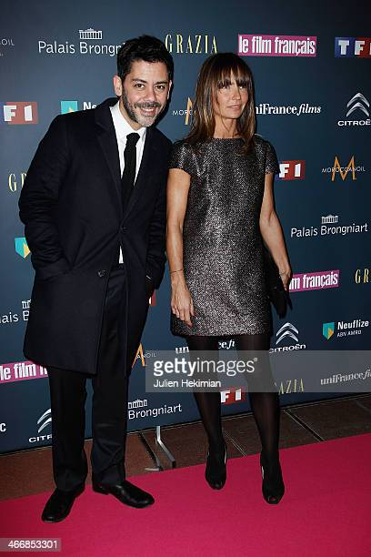 Axelle Laffont and Manu Payet attend the 'Trophees Du Film Francais' 21th Ceremony at Palais Brongniart on February 4 2014 in Paris France