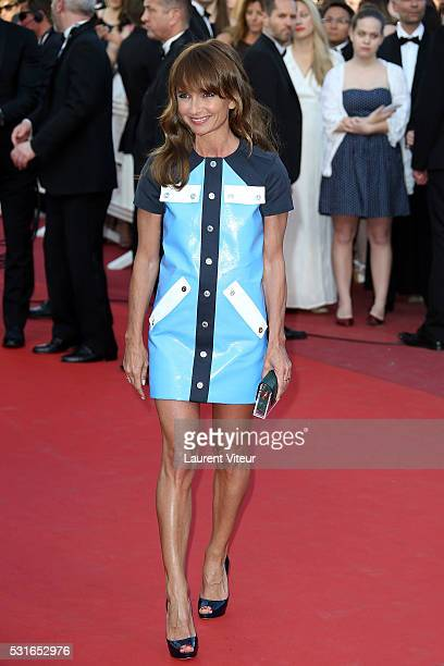 Axelle Laffont attends the 'From The Land Of The Moon ' premiere during the 69th annual Cannes Film Festival at the Palais des Festivals on May 15...