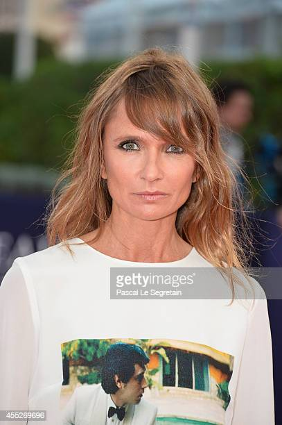 Axelle Laffont attends 'The November man' premiere on September 11 2014 in Deauville France
