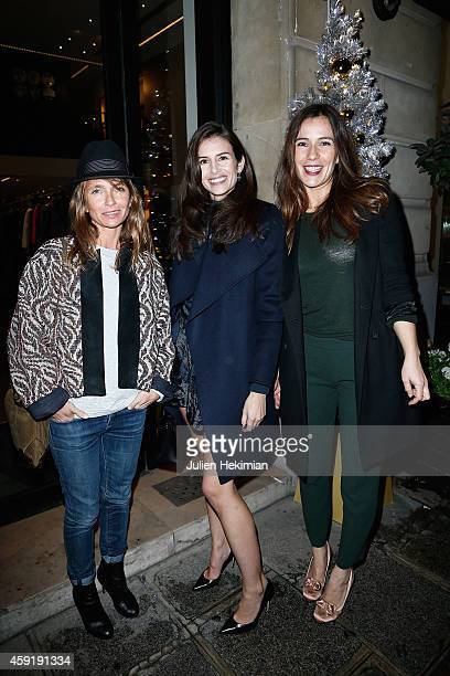 Axelle Laffont Louise Monot and Zoe Felix attend the Comite Du Faubourg Saint Honore Christmas Lighting cocktail on November 18 2014 in Paris France