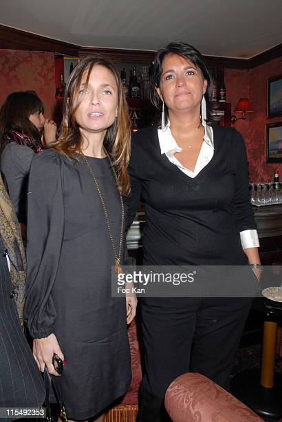 Axelle Laffont with Valerie Expert attend the Gabriella Cortese's Antik Batik 15th Anniversary at The Castel Club on November 22 2007 in Paris France
