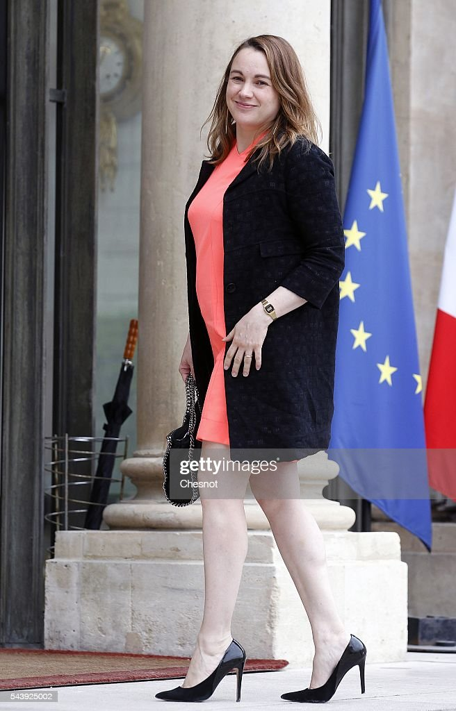 Axelle Lemaire, French Minister of State for the Digital Sector arrives at the Elysee Presidential Palace for a lunch with French President Francois Hollande and leaders of large groups of digital and manufacturers worldwide before the Viva Technology show on June 30, 2016 in Paris, France. Viva Technology Startup Connect, the new international event brings together 5,000 startups with top investors, companies to grow businesses and all players in the digital transformation who shape the future of the internet.