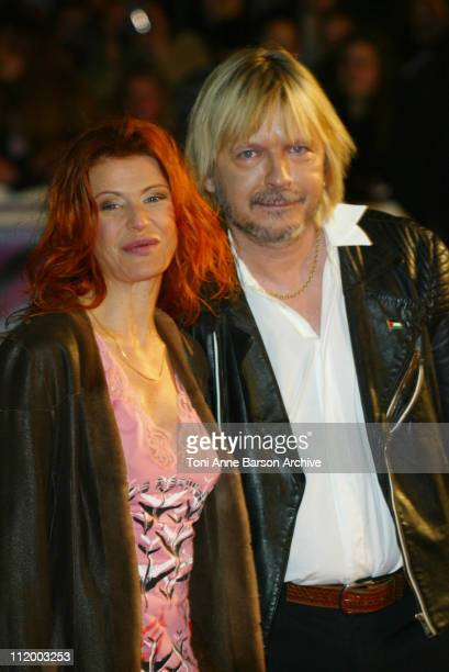 Axelle Red and Renaud during NRJ Music Awards 2003 Cannes Arrivals at Palais des Festivals in Cannes France
