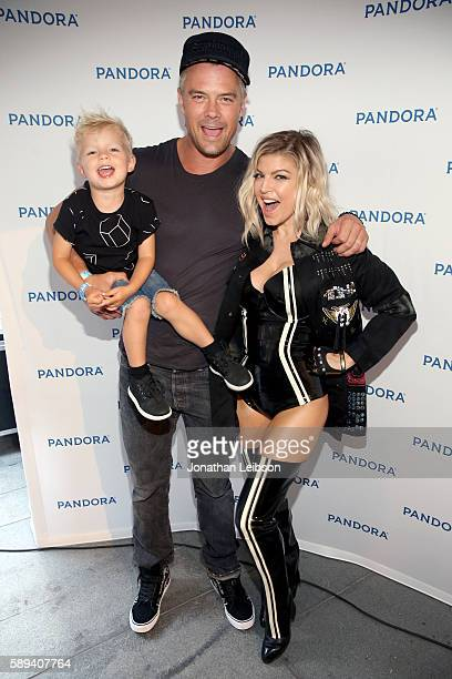 Axl Jack Duhamel actor Josh Duhamel and singer Fergie attend Pandora Summer Crush at LA Live on August 13 2016 in Los Angeles California