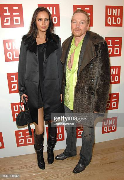 Axl Rose and Guest during Grand Opening of Uniqlo Flagship Store November 9 2006 at Uniqlo Flagship Store Soho in New York City New York United States