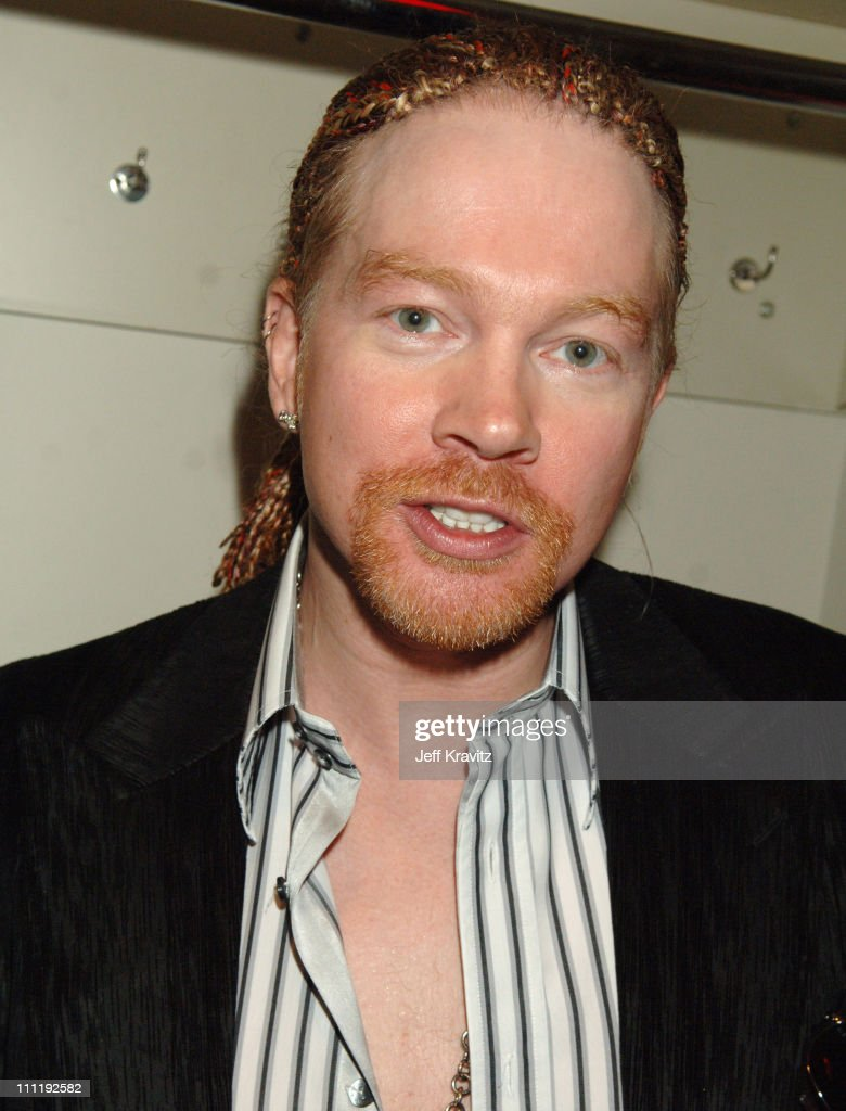 Axl Rose during 2006 MTV Video Music Awards - Backstage at Radio City Music Hall in New York, New York, United States.