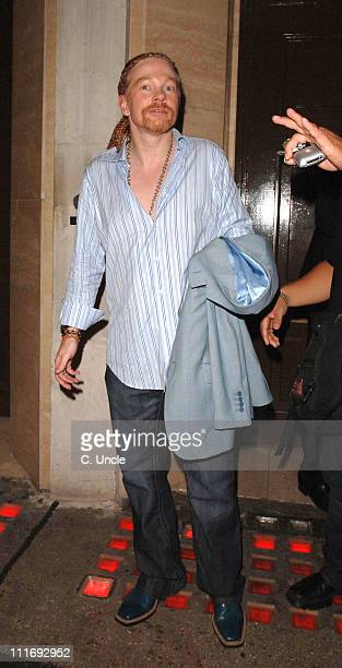 Axl Rose during Celebrity Sightings at the Cuckoo Club July 26 2006 in London Great Britain