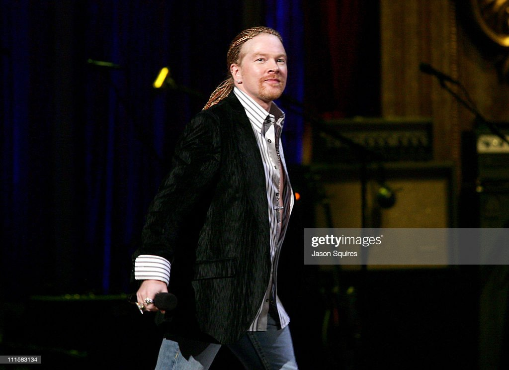 Axl Rose introduces performance by The Killers during 2006 MTV Video Music Awards - MTV.com Show at Radio City Music Hall in New York City, New York, United States.