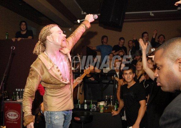 Axl Rose of Guns N Roses during Guns N Roses Special Guest