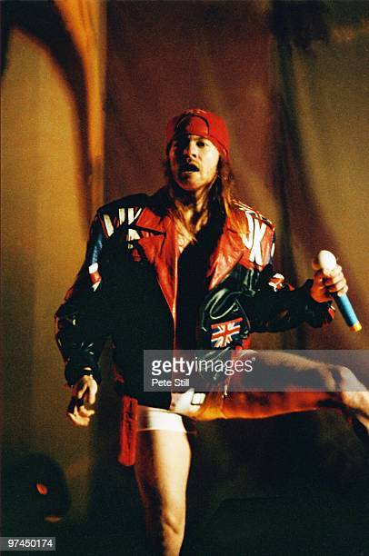 Axl Rose of Guns n' Roses performs on stage at The National Bowl on May 30th 1993 in Milton Keynes Buckinghamshire England