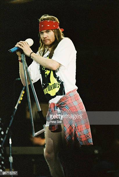 Axl Rose of Guns n Roses performs on stage on The Freddie Mercury Tribute Concert at Wembley Stadium on April 20th 1992 in London United Kingdom