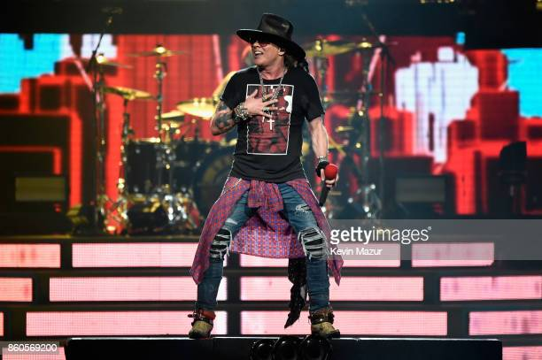 Axl Rose of Guns N' Roses performs onstage during the 'Not In This Lifetime' Tour at Madison Square Garden on October 11 2017 in New York City