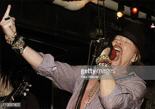 Axl Rose performs with Guns N' Roses at John Varvatos on February 11 2010 in New York City