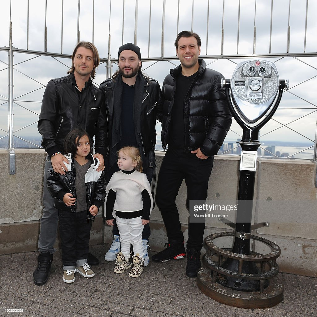 <a gi-track='captionPersonalityLinkClicked' href=/galleries/search?phrase=Axwell&family=editorial&specificpeople=5989822 ng-click='$event.stopPropagation()'>Axwell</a>, <a gi-track='captionPersonalityLinkClicked' href=/galleries/search?phrase=Steve+Angello&family=editorial&specificpeople=5737645 ng-click='$event.stopPropagation()'>Steve Angello</a> and Sebastian Ingrosso of Swedish House Mafia pose with children as they attend the lighting of The Empire State Building on February 28, 2013 in New York City.