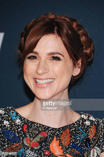 Aya Cash attends the 2015 FX Bowling Party at Lucky Strike on April 22 2015 in New York City