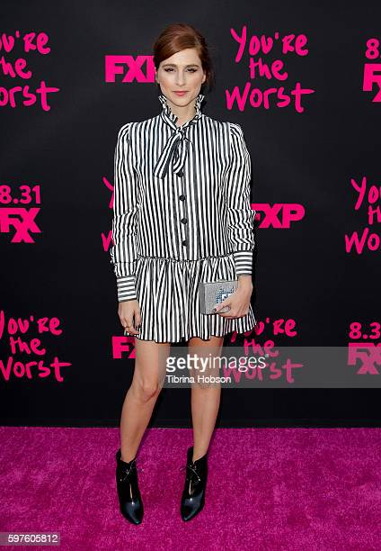 Aya Cash attends the premiere of FXX's 'You're The Worst' season 3 on August 28 2016 in Los Angeles California