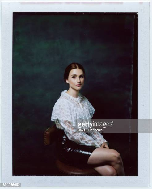 Aya Cash from the film 'Mary Goes Round' is photographed on polaroid film at the LA Times HQ at the 42nd Toronto International Film Festival in...