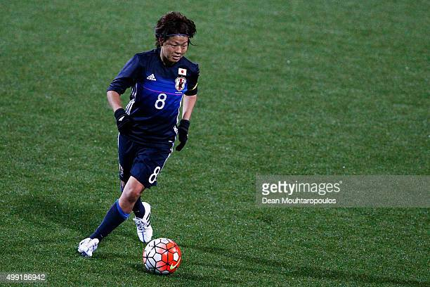Aya Miyama of Japan in action during the International Friendly match between Netherlands and Japan held at Kras Stadion on November 29 2015 in...