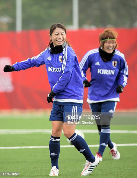 Aya Sameshima of Japan in action during a training session on June 15 2015 in Winnipeg Canada