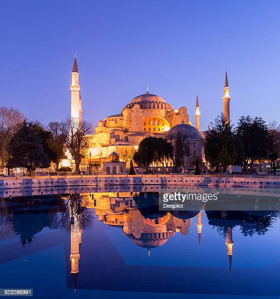 Aya Sofya Mosque in Istanbul at twilight